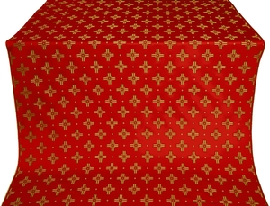 Bishop silk (rayon brocade) (red/gold)