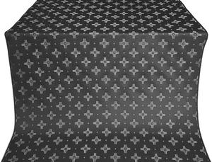 Bishop silk (rayon brocade) (black/silver)