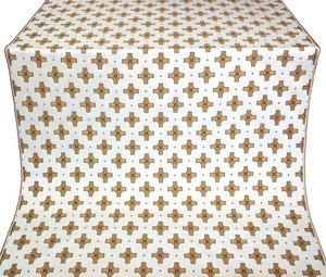 Bishop silk (rayon brocade) (white/gold/claret)