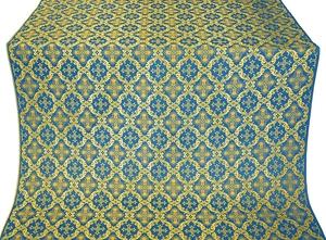Nikolaev silk (rayon brocade) (blue/gold)