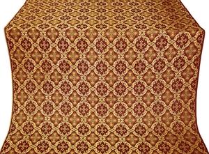 Nikolaev silk (rayon brocade) (claret/gold)
