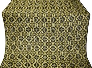 Nikolaev silk (rayon brocade) (black/gold)