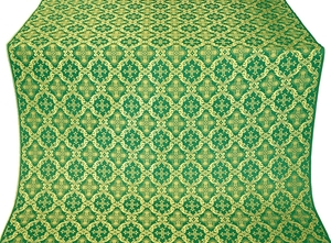 Nikolaev silk (rayon brocade) (green/gold)