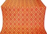 Nikolaev silk (rayon brocade) (red/gold)