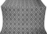 Nikolaev silk (rayon brocade) (black/silver)