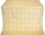 Nikolaev silk (rayon brocade) (white/gold)