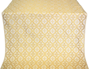 Nikolaev silk (rayon brocade) (white/gold)