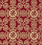 Sebastian metallic brocade (claret/gold)