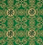 Sebastian metallic brocade (green/gold)