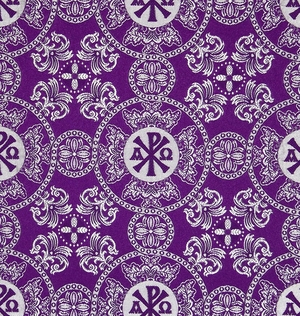Sebastian metallic brocade (violet/silver)