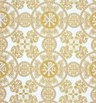 Sebastian metallic brocade (white/gold)