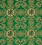 Sebastian silk (rayon brocade) (green/gold)