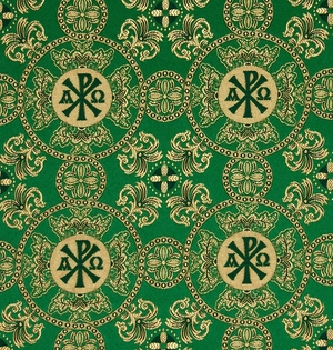 Sebastian silk (rayon brocade) (green/gold)