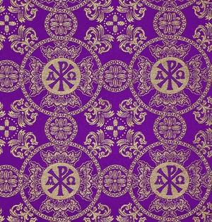 Sebastian silk (rayon brocade) (violet/gold)