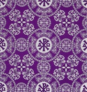 Sebastian silk (rayon brocade) (violet/silver)