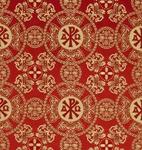 Sebastian silk (rayon brocade) (red/gold)