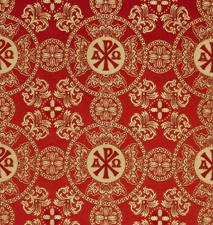 Sebastian silk (rayon brocade) (red/gold)
