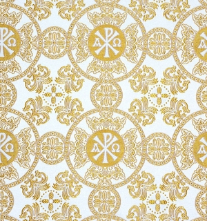 Sebastian silk (rayon brocade) (white/gold)