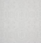 Sebastian silk (rayon brocade) (white/silver)
