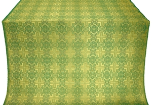 Czar-city metallic brocade (green/gold)