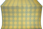 Czar-city silk (rayon brocade) (blue/gold)