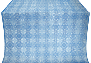 Czar-city silk (rayon brocade) (blue/silver)