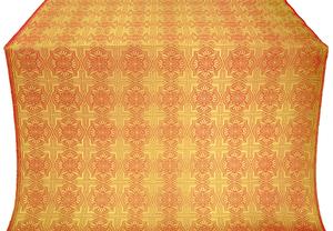 Czar-city silk (rayon brocade) (red/gold)