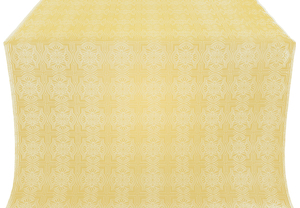 Czar-city silk (rayon brocade) (white/gold)