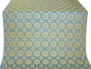 Vologda Posad metallic brocade (blue/gold)