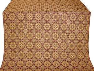 Vologda Posad metallic brocade (claret/gold)