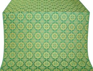 Vologda Posad metallic brocade (green/gold)