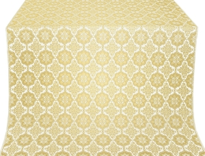 Vologda Posad metallic brocade (white/gold)
