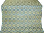 Vologda Posad silk (rayon brocade) (blue/gold)