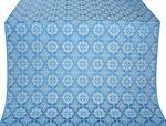 Vologda Posad silk (rayon brocade) (blue/silver)
