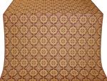 Vologda Posad silk (rayon brocade) (claret/gold)