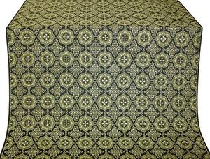 Vologda Posad silk (rayon brocade) (black/gold)