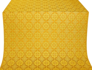 Vologda Posad silk (rayon brocade) (yellow/gold)