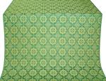Vologda Posad silk (rayon brocade) (green/gold)