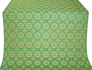 Vologda Posad silk (rayon brocade) (green/gold)