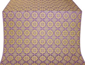 Vologda Posad silk (rayon brocade) (violet/gold)