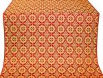 Vologda Posad silk (rayon brocade) (red/gold)