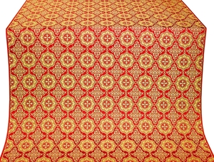 Vologda Posad silk (rayon brocade) (red/gold)