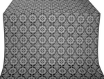 Vologda Posad silk (rayon brocade) (black/silver)