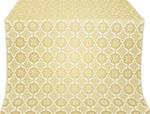 Vologda Posad silk (rayon brocade) (white/gold)