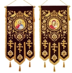 Embroidered church banners Birds