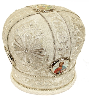 Embroidered mitre - 2528 (Size: 22.8'' (58 cm))