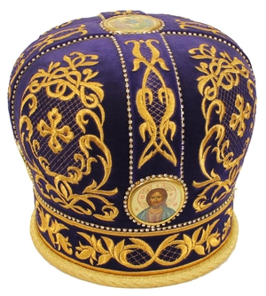 Embroidered mitre - 2942 (Size: 25.2'' (64 cm))