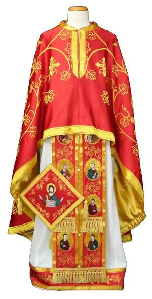 Greek Priest vestments - Apostle Tree red