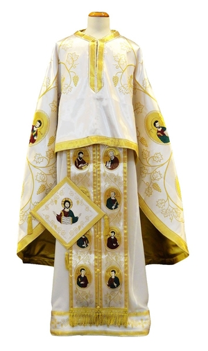 Greek Priest vestments - Apostle Tree white/gold
