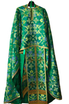 "Greek Priest vestment set (rayon brocade): 47-49"" (European size: 60-62), height-  6'2""-6'4""-73"" (189-194 cm) - 40% off! (CLONE)"